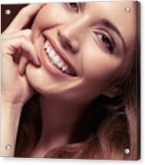 Young Woman With A Natural Smile Acrylic Print