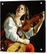 Young Woman With A Violin Acrylic Print