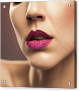 Young Woman With Flawless Makeup Acrylic Print