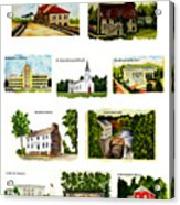Youngstown Landmarks Montage 2 Acrylic Print