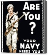 Your Navy Needs You This Minute Acrylic Print by War Is Hell Store