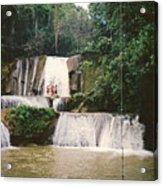 Ys Falls Jamaica Acrylic Print