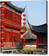 Yu Gardens - A Classic Chinese Garden In Shanghai Acrylic Print