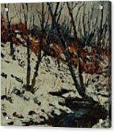 Ywoigne Snow Acrylic Print