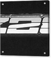 Z28 Logo Noir Acrylic Print