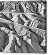 Zabriske Point Death Valley  Bw6398 Acrylic Print