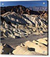 Zabriskie Point In Death Valley Acrylic Print