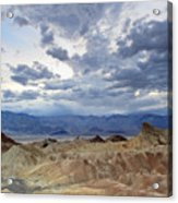 Zabriskie Point Twilight Death Valley Acrylic Print