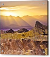 Zabriskie Sunset Acrylic Print