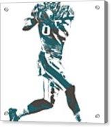 Zach Ertz Philadelphia Eagles Pixel Art 1 Acrylic Print