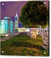 Zadar Historic Square Evening View Acrylic Print