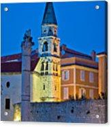 Zadar Landmarks Evening Vertical View Acrylic Print