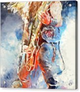 Zakk Wylde - Watercolor 09 Acrylic Print