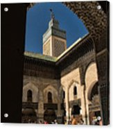 Zaouia El Tijaniya Mosque In Fes Morroco Acrylic Print