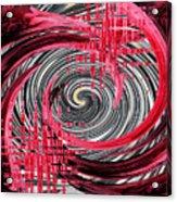 Zebra And A Rose Acrylic Print