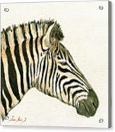 Zebra Head Study Painting Acrylic Print