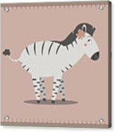 Zebra Posing Acrylic Print