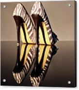 Zebra Print Stiletto Acrylic Print