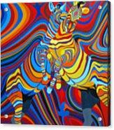 Zebradelic Acrylic Print