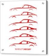 Zee Car Silhouettehistory Acrylic Print