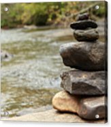 Zen At The Water Acrylic Print