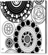Zen Circles Design Acrylic Print