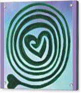 Zen Heart Labyrinth Sky Acrylic Print