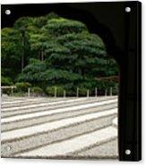 Zen Lines Acrylic Print