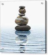 Zen Stones In Water Acrylic Print