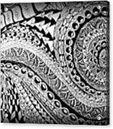 Zen Tangle 1 Acrylic Print