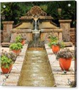 Zen Water Feature Waterfall Acrylic Print