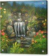 Zen Waterfall Acrylic Print