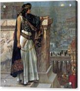 Zenobia's Last Look On Palmyra Acrylic Print by Herbert Gustave Schmalz