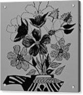 Zentangle 16-01 Acrylic Print