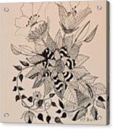 Zentangle 16-02 Acrylic Print