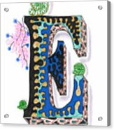Zentangle Inspired E #3 Acrylic Print