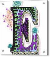 Zentangle Inspired E #4 Acrylic Print