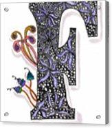 Zentangle Inspired F #2 Acrylic Print