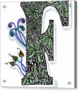 Zentangle Inspired F #3 Acrylic Print