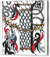 Zentangle Inspired I #1 Acrylic Print