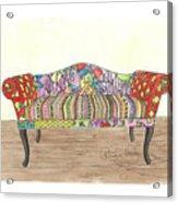 Zentangle Sofa Acrylic Print