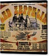 Zeppelin Express Acrylic Print by David Lee Thompson