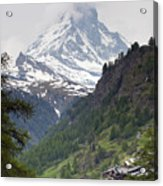 Zermatt Acrylic Print by Andre Goncalves