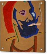 Brown Zig Zag Man Acrylic Print