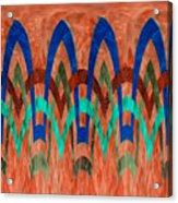 Zig Zag Pattern On Orange Acrylic Print