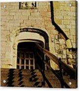 Zig Zag Shadows At Clifford's Tower, York, England Acrylic Print