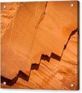 Zigzag Sandstone Acrylic Print