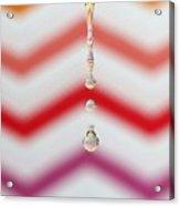 Zigzag Water Drop 4 Acrylic Print