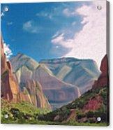 Zion Cliffs Acrylic Print