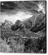 Zion In Black And White Acrylic Print